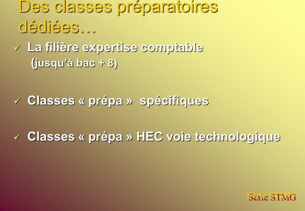 Des classes préparatoires dédiées… La filière expertise comptable ( jusquà bac + 8) La filière expertise comptable ( jusquà bac + 8) Classes « prépa »