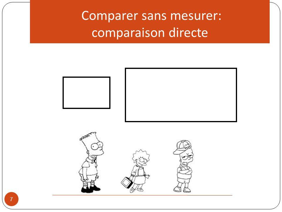 Comparer sans mesurer: comparaison directe 7