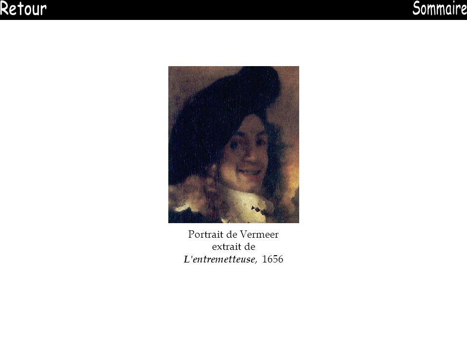 Portrait de Vermeer extrait de L'entremetteuse, 1656