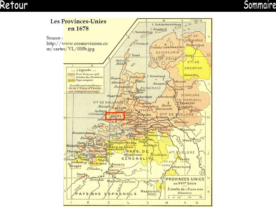 Les Provinces-Unies en 1678 Source : http://www.cosmovisions.co m/cartes/VL/030b.jpg