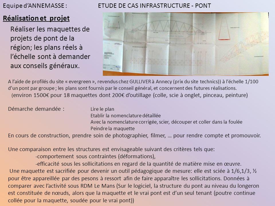 Réalisation et projet A laide de profilés du site « evergreen », revendus chez GULLIVER à Annecy (prix du site technics)) à léchelle 1/100 dun pont pa