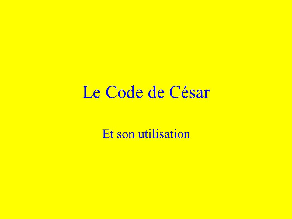 Linvention du code Son utilisation Son fonctionnement Son application aujourdhui Modifications possibles