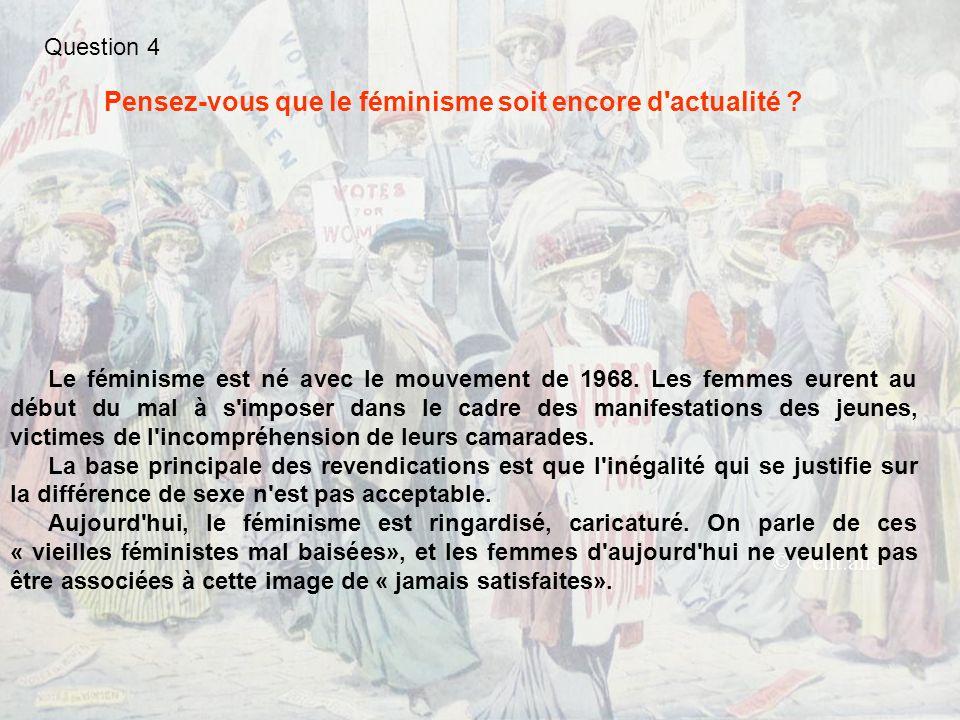 A ce sujet, le documentaire « La Domination Masculine », largement tourné au Québec, apporte des éléments éclairants.