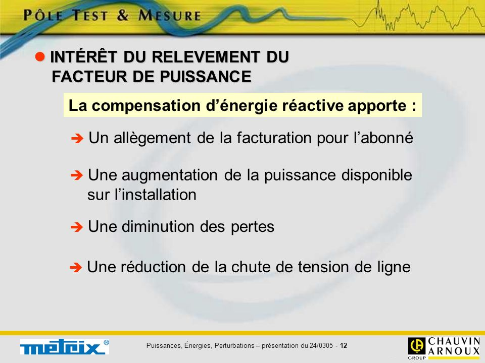 Puissances, Énergies, Perturbations – présentation du 24/0305 - 13 QUE FAIRE .