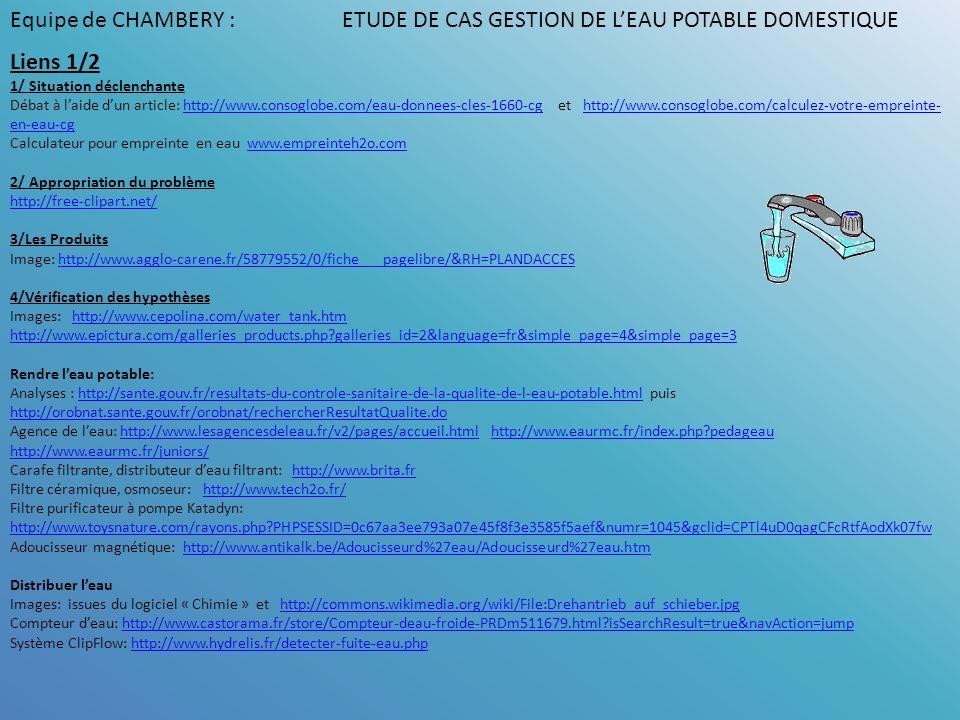 Liens 1/2 1/ Situation déclenchante Débat à laide dun article: http://www.consoglobe.com/eau-donnees-cles-1660-cg et http://www.consoglobe.com/calcule