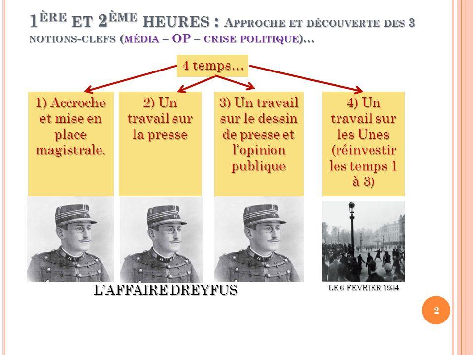 T EMPS 2 : UN TRAVAIL SUR LES ARCHIVES FILMÉES, MAI 58 A partir de 2 archives : travail de décryptage les mêmes journalistes, le même cadre… mais 2 tons différents : des médias aux ordres .