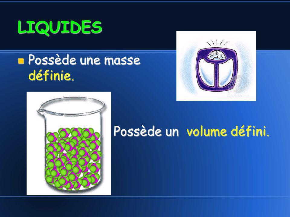Les particules prennent la Les particules prennent la forme de leur contenant.