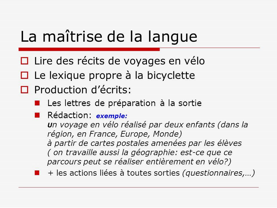 Géographie Orientation ( voir EPS) Le plan, la carte, les différentes échelles… Où et comment est utilisé le vélo aujourdhui.