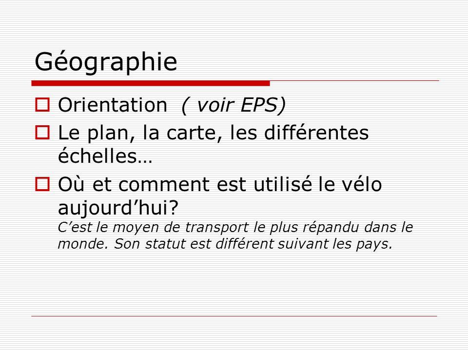 Histoire Lhistoire du vélo en général.