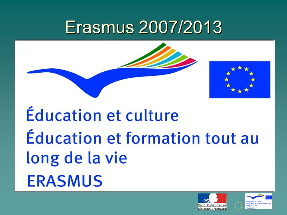 Erasmus cest : 20 ans dexistence et plus d1,5 million détudiants européens en mobilité (dont 239 787 français) Objectif 2013 : 3 millions détudiants ERASMUS !