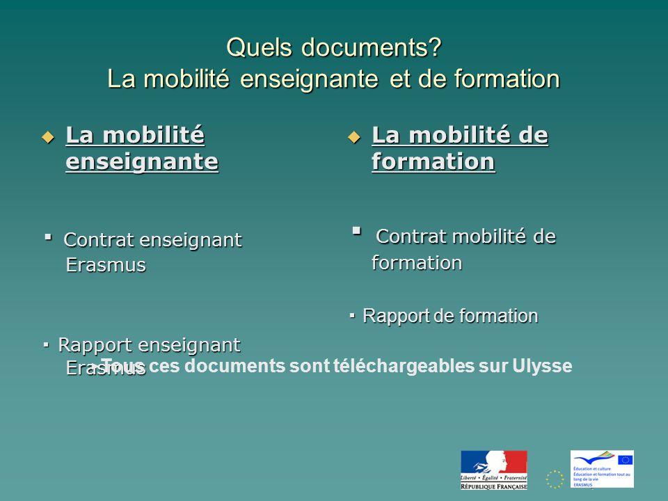 Quels documents.
