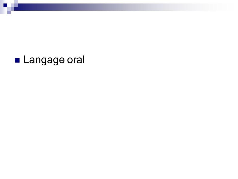 Langage oral