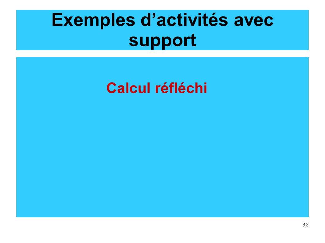 38 Exemples dactivités avec support Calcul réfléchi