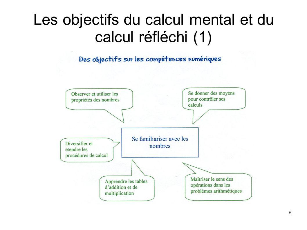 7 Les objectifs du calcul mental et du calcul réfléchi (2)