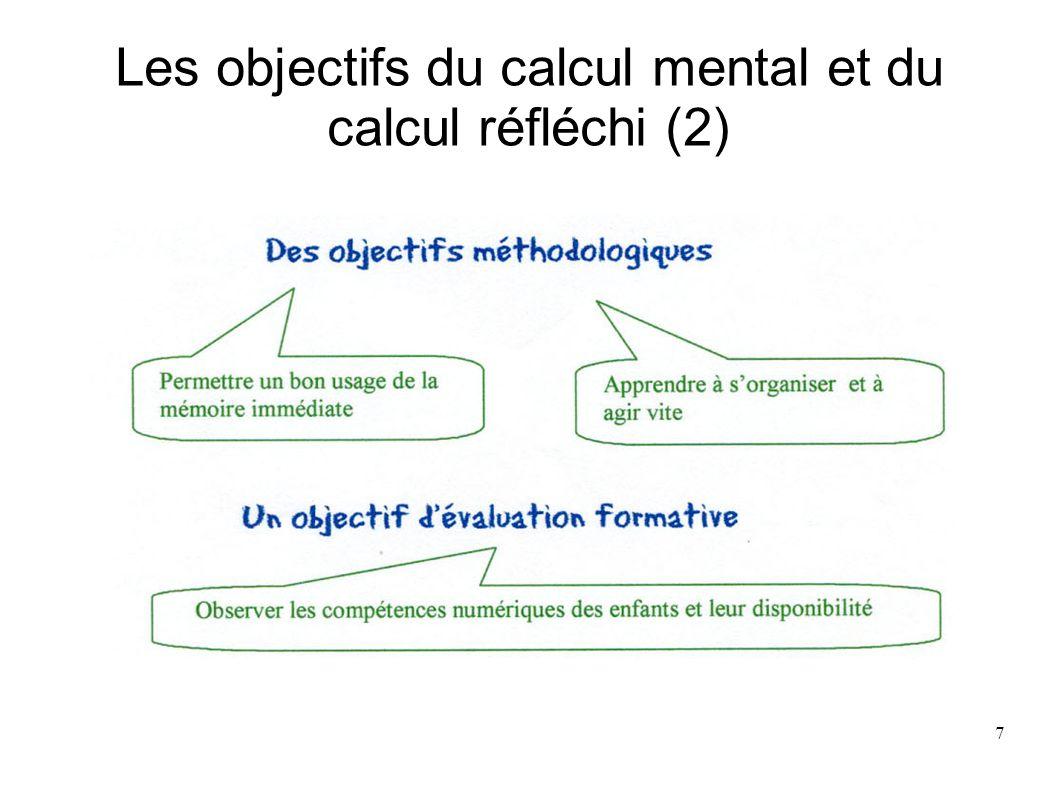 8 Distinction entre 2 procédures de calcul -Procédure automatisée faible adaptabilité - Automatisme procédure productrice dapprentissage