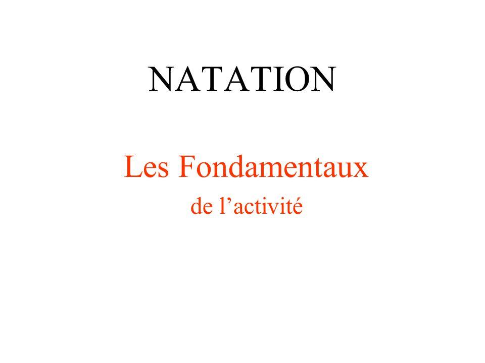 NATATION Les Fondamentaux de lactivité