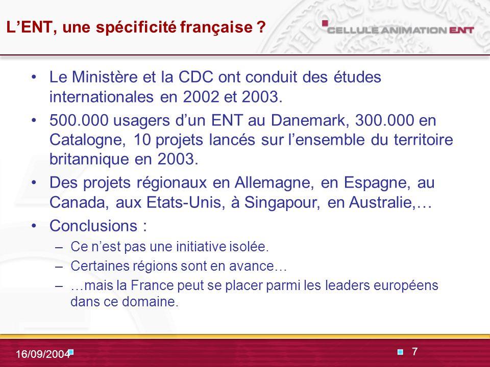 7 16/09/2004 LENT, une spécificité française .
