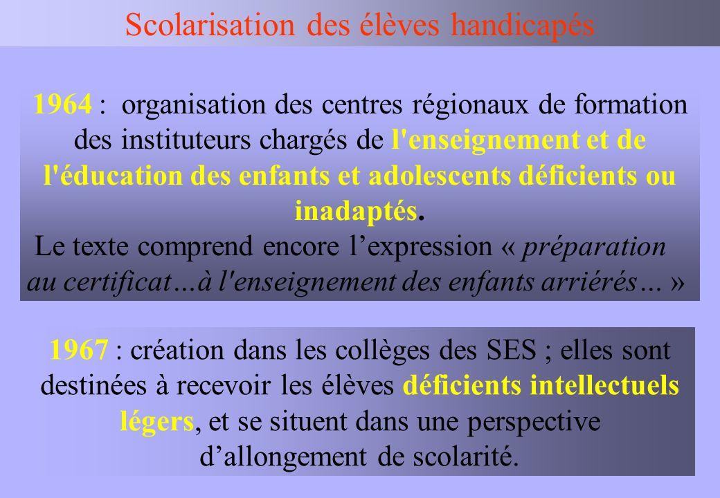 IEN BV Scolarisation des élèves handicapés La commission des droits et de lautonomie : CDA (CDES + COTOREP).