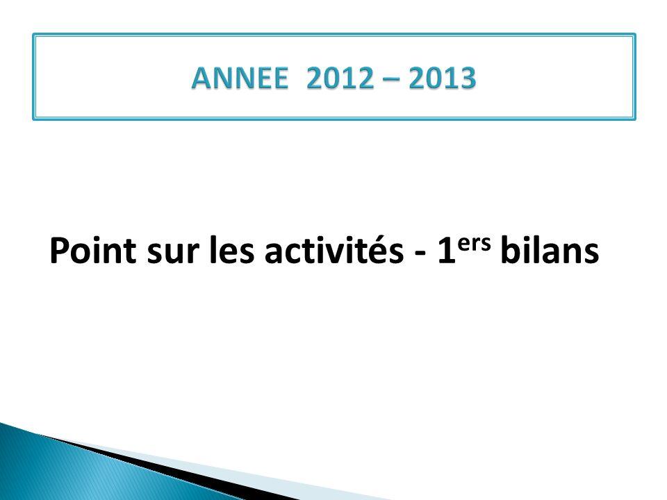 Point sur les activités - 1 ers bilans