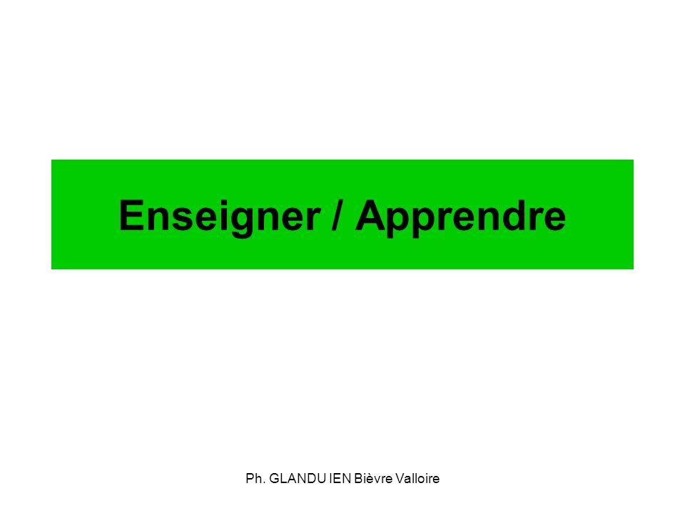 Ph. GLANDU IEN Bièvre Valloire Enseigner / Apprendre