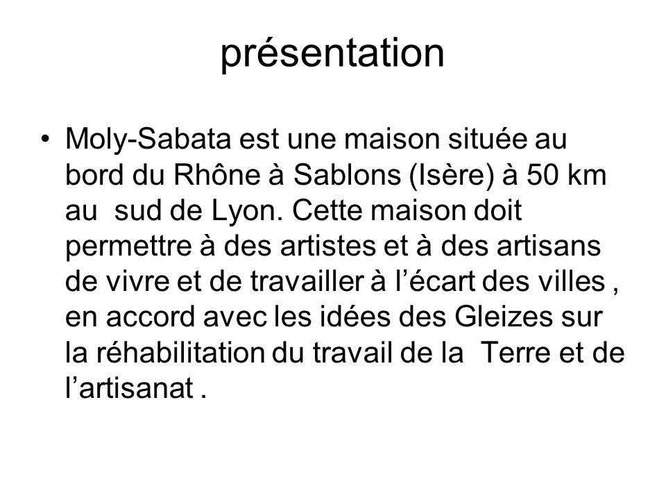 déroulement Dans les années 1930, Moly-Sabata devient sous la direction dAnne Dangar un centre de formation à la méthode d Albert Gleizes.