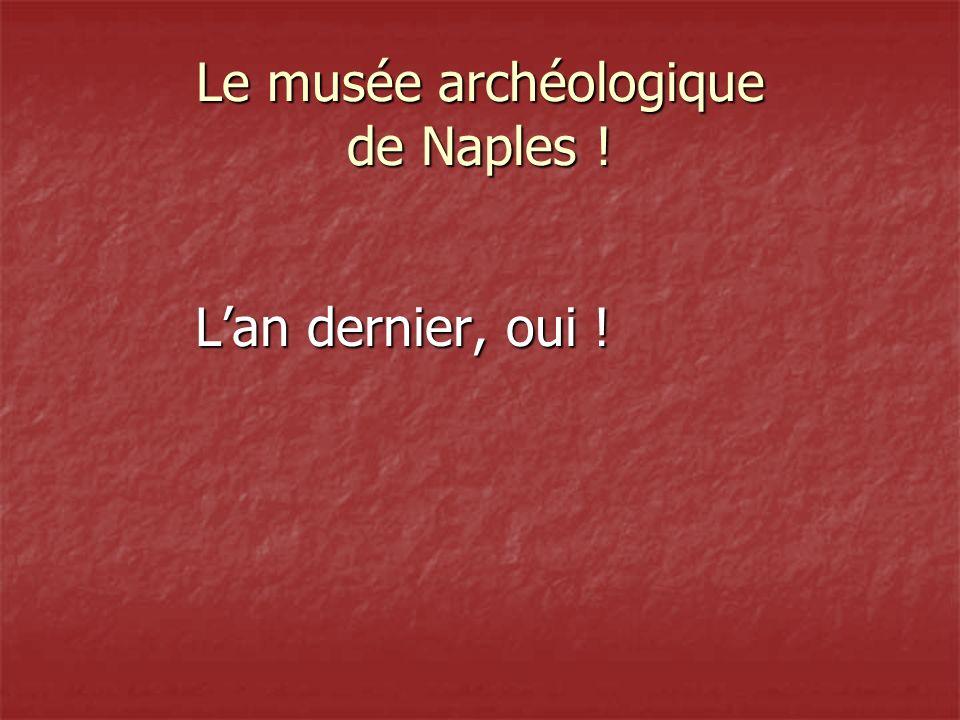 Le musée archéologique de Naples ! Lan dernier, oui !
