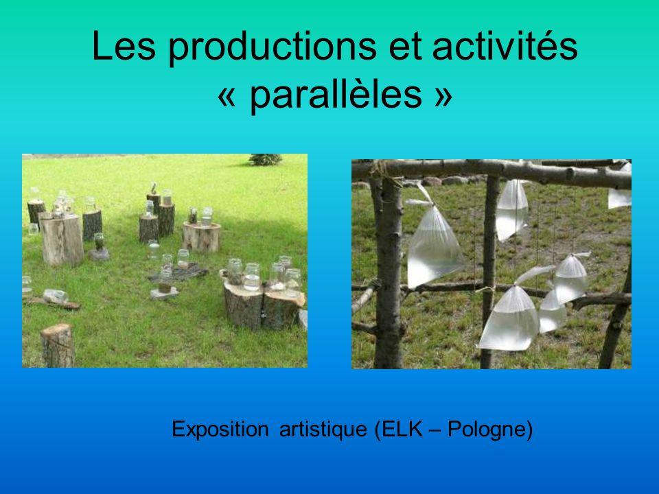 Les productions et activités « parallèles » Exposition artistique (ELK – Pologne)