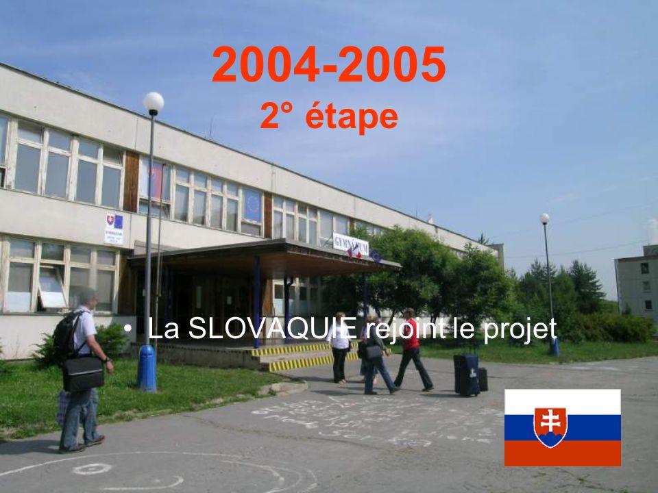 2004-2005 2° étape La SLOVAQUIE rejoint le projet