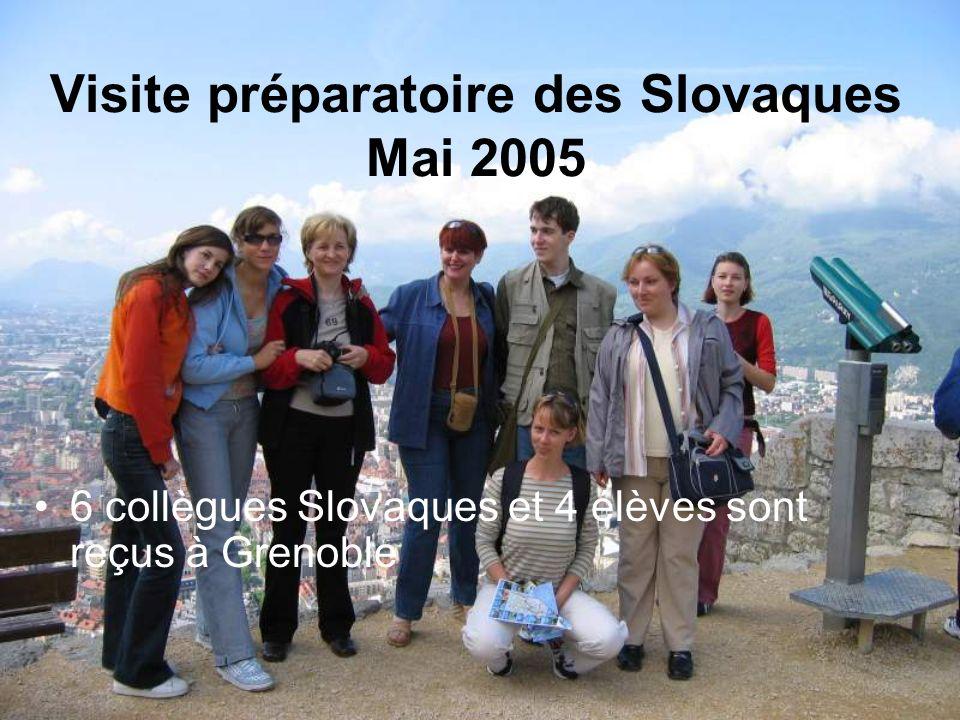 Visite préparatoire des Slovaques Mai 2005 6 collègues Slovaques et 4 élèves sont reçus à Grenoble