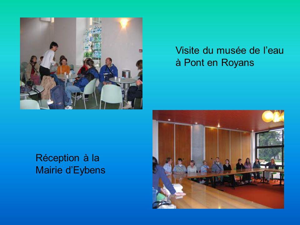 Visite du musée de leau à Pont en Royans Réception à la Mairie dEybens