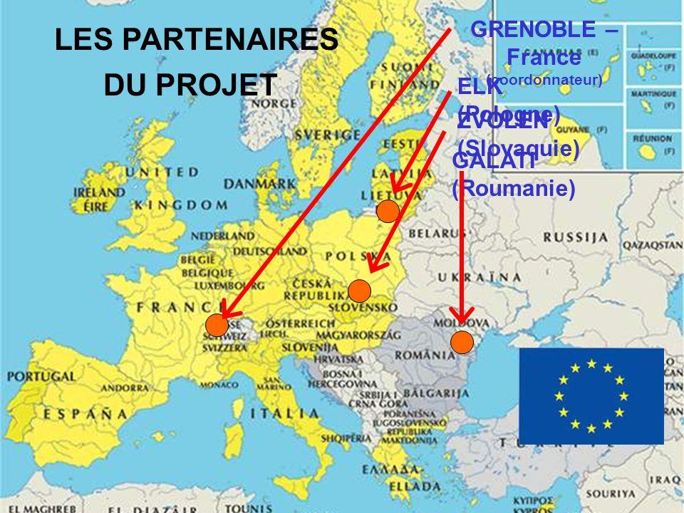 ELK (Pologne) ZVOLEN (Slovaquie) GALATI (Roumanie) GRENOBLE – France (coordonnateur) LES PARTENAIRES DU PROJET
