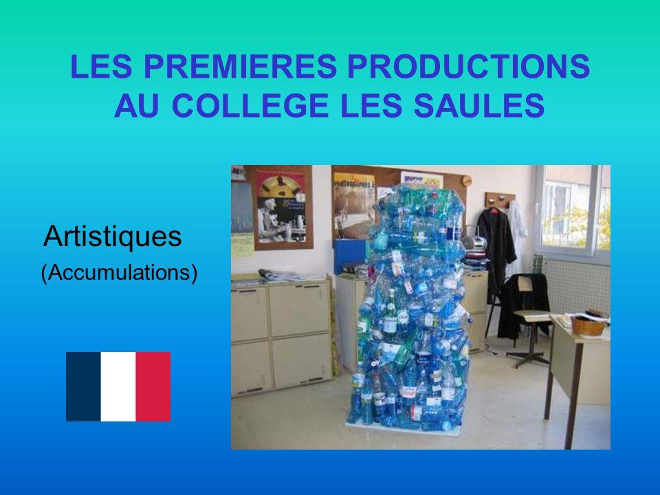 LES PREMIERES PRODUCTIONS AU COLLEGE LES SAULES Artistiques (Accumulations)