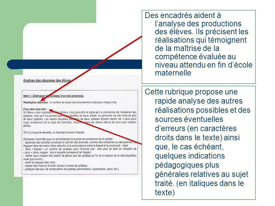 Les guides dobservation Le guide identifie des indicateurs significatifs