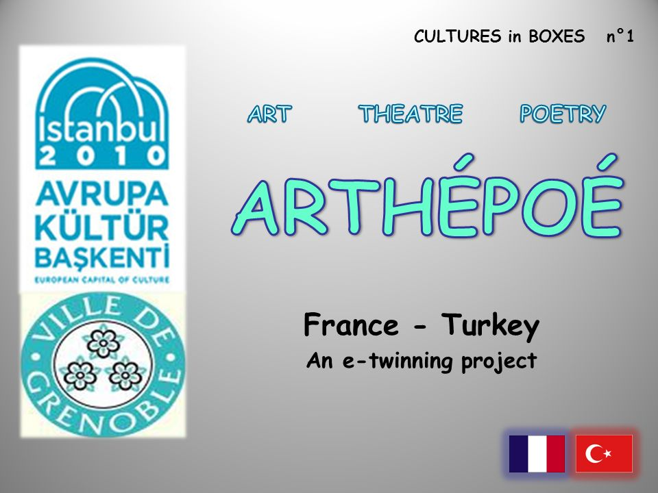 CULTURES in BOXES n°1 France - Turkey An e-twinning project