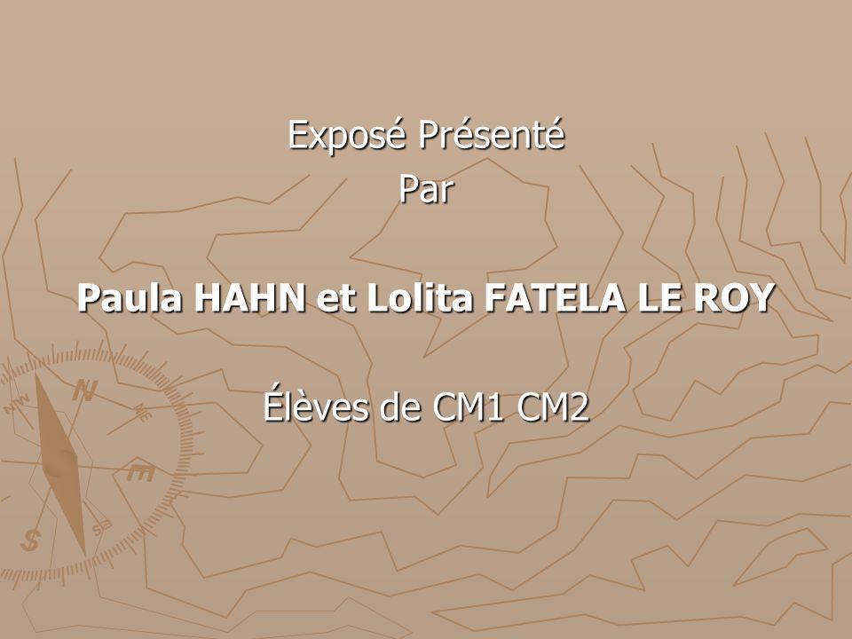 Exposé Présenté Par Paula HAHN et Lolita FATELA LE ROY Élèves de CM1 CM2