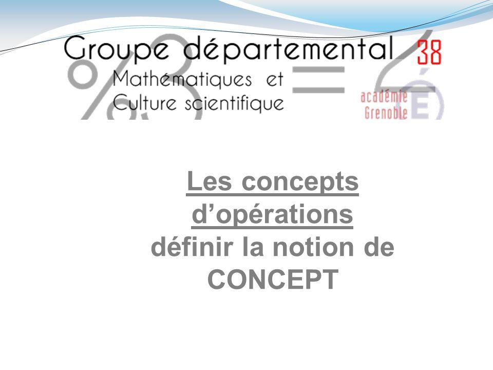 Les concepts dopérations définir la notion de CONCEPT