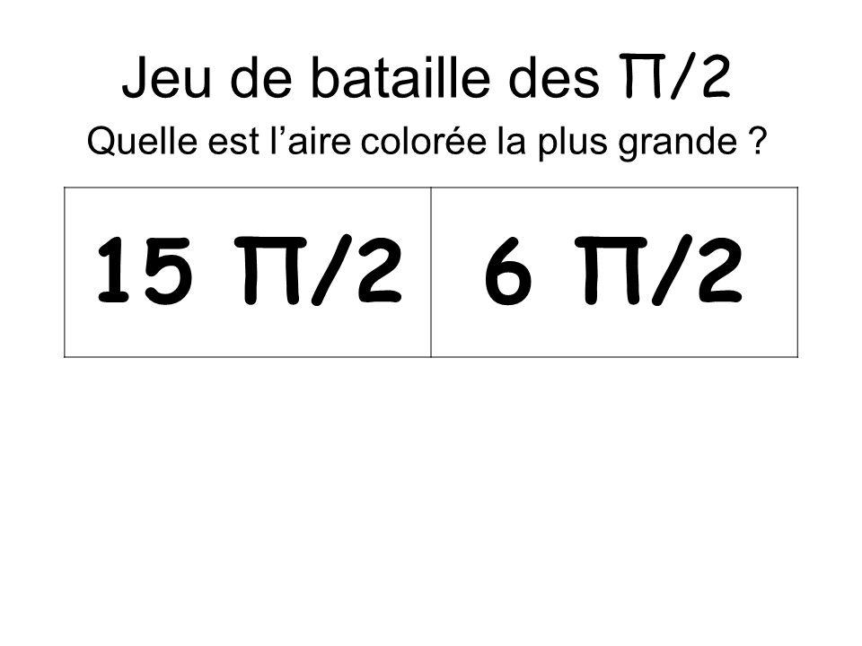 Jeu de bataille des Π/2 Quelle est laire colorée la plus grande 15 Π/26 Π/2