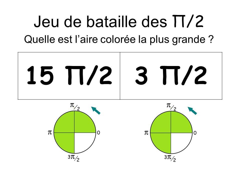 Jeu de bataille des Π/2 Quelle est laire colorée la plus grande 15 Π/23 Π/2