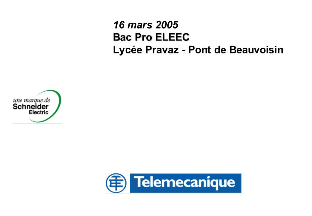 Bac Pro ELEEC 16 mars 2005 Bac Pro ELEEC Lycée Pravaz - Pont de Beauvoisin