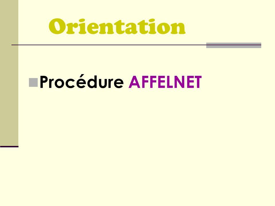 Orientation Procédure AFFELNET
