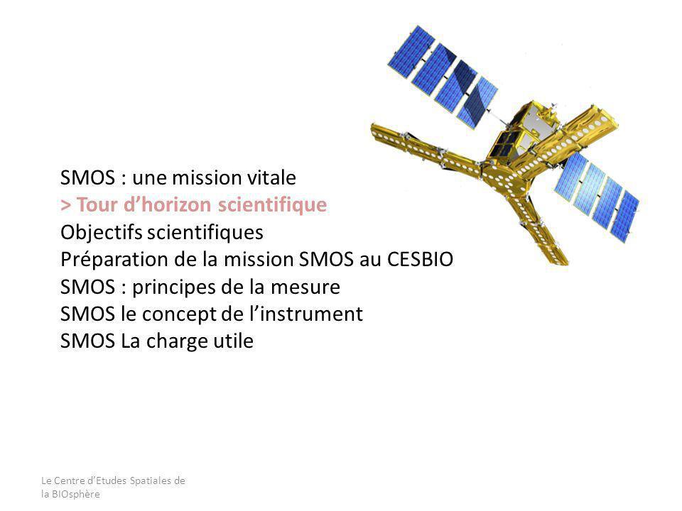 Le Centre dEtudes Spatiales de la BIOsphère SMOS : une mission vitale > Tour dhorizon scientifique Objectifs scientifiques Préparation de la mission S