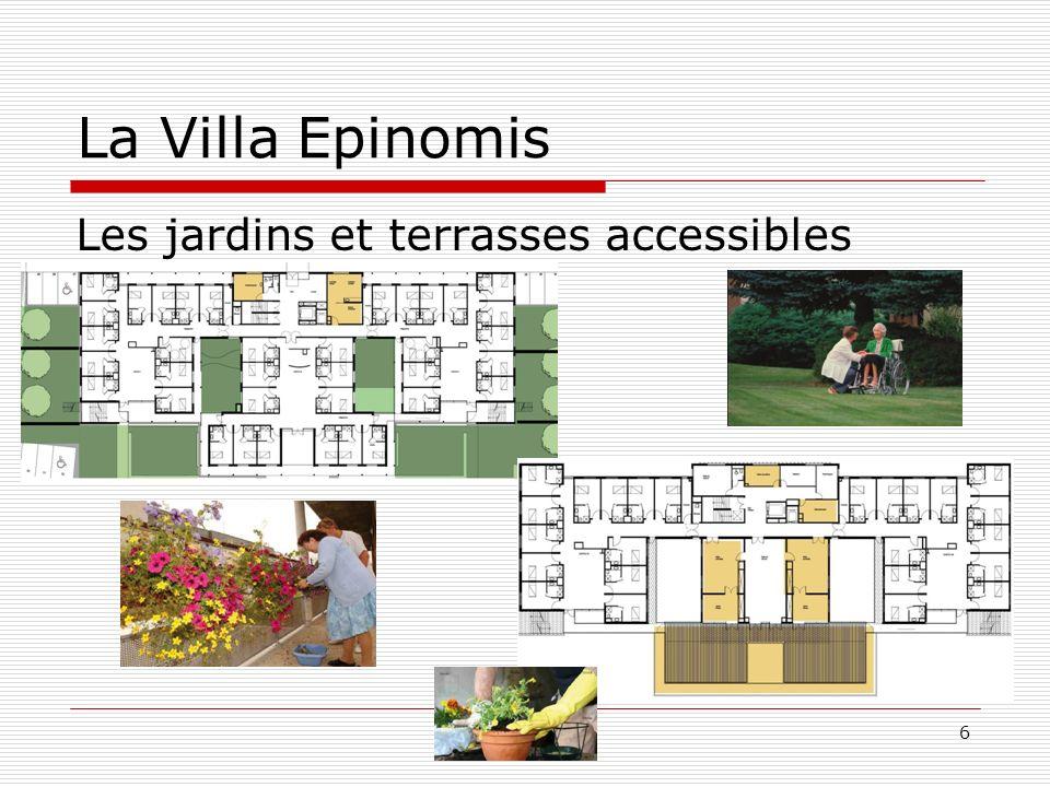 La Villa Epinomis Les jardins et terrasses accessibles 6