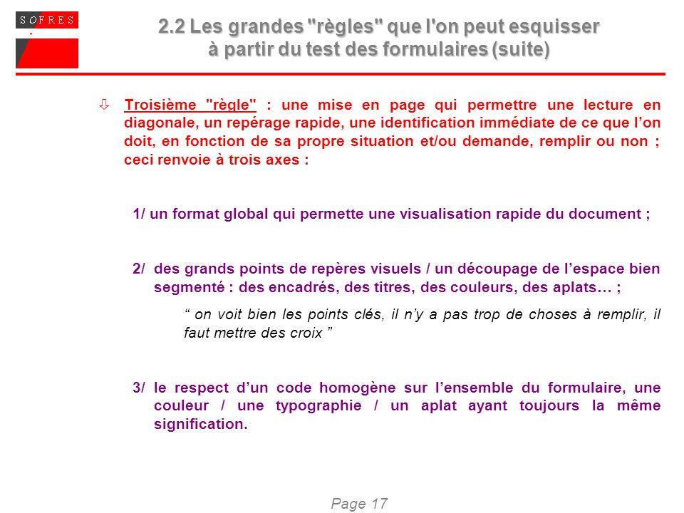 Page 17 2.2 Les grandes
