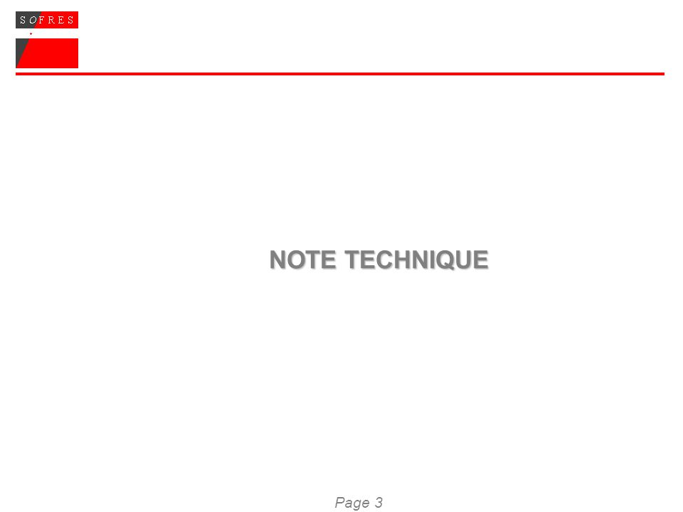 Page 3 NOTE TECHNIQUE