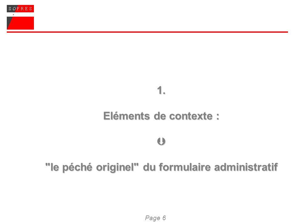 Page 17 2.2 Les grandes règles que l on peut esquisser à partir du test des formulaires (suite) Troisième règle : une mise en page qui permettre une lecture en diagonale, un repérage rapide, une identification immédiate de ce que lon doit, en fonction de sa propre situation et/ou demande, remplir ou non ; ceci renvoie à trois axes : 1/ un format global qui permette une visualisation rapide du document ; 2/ des grands points de repères visuels / un découpage de lespace bien segmenté : des encadrés, des titres, des couleurs, des aplats… ; on voit bien les points clés, il ny a pas trop de choses à remplir, il faut mettre des croix 3/le respect dun code homogène sur lensemble du formulaire, une couleur / une typographie / un aplat ayant toujours la même signification.