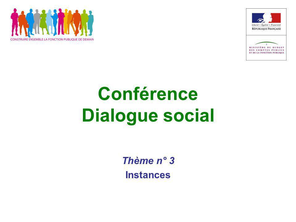 Conférence Dialogue social Thème n° 3 Instances
