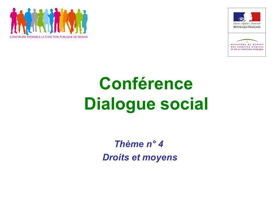 Conférence Dialogue social Thème n° 4 Droits et moyens