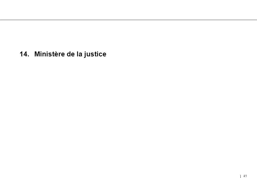 41 14.Ministère de la justice