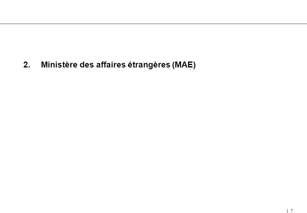 7 2.Ministère des affaires étrangères (MAE)