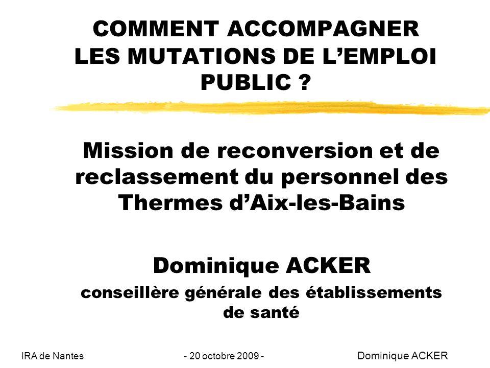 COMMENT ACCOMPAGNER LES MUTATIONS DE LEMPLOI PUBLIC .